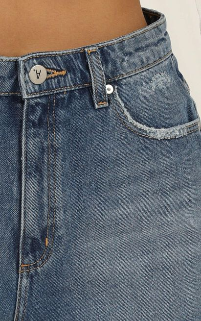 Abrand - A High Relaxed Denim Shorts in josephine blue - 6 (XS), Blue, hi-res image number null