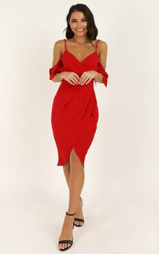 A Fair Go Dress In Red