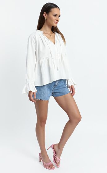 Magee Top in White