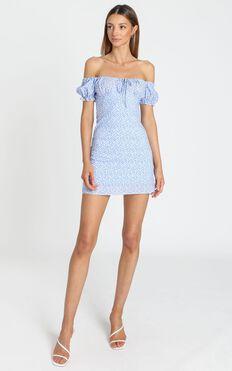 Sinead Dress in Blue Floral