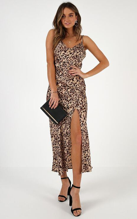 When The Time Is Right Dress In Leopard Print