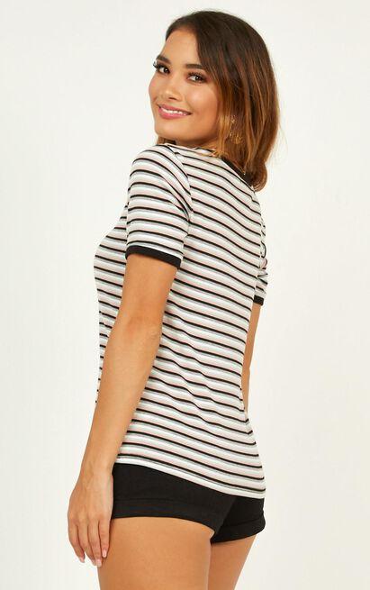 Honey Baby t-shirt in multi stripe - 12 (L), Pink, hi-res image number null