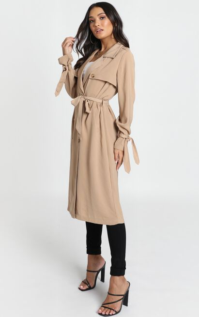 Stepping It Up Trench Coat In Beige - 20 (XXXXL), Beige, hi-res image number null