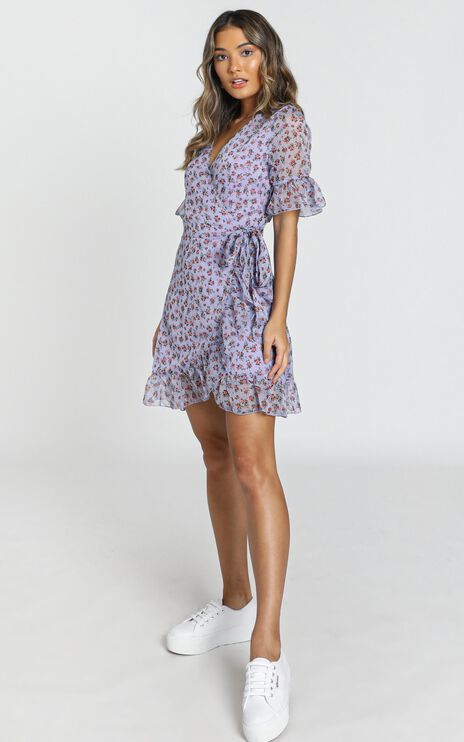 Girl Unknown Dress in Lilac Floral