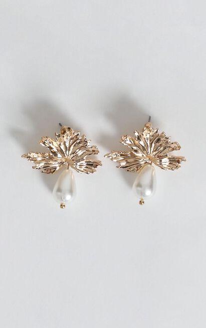 Vienna Pearl Drop Earrings In Gold, , hi-res image number null