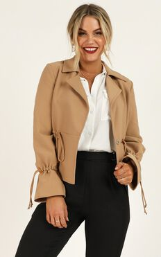 Ideal Candidate Coat In Tan