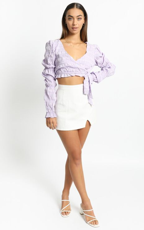 Sigfrid Top in Lilac Check