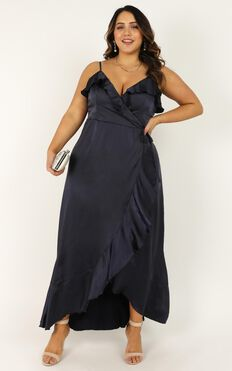 Wrapped Up Dress In Navy
