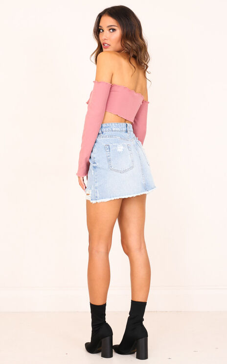 Same As Before Skirt In Light Wash