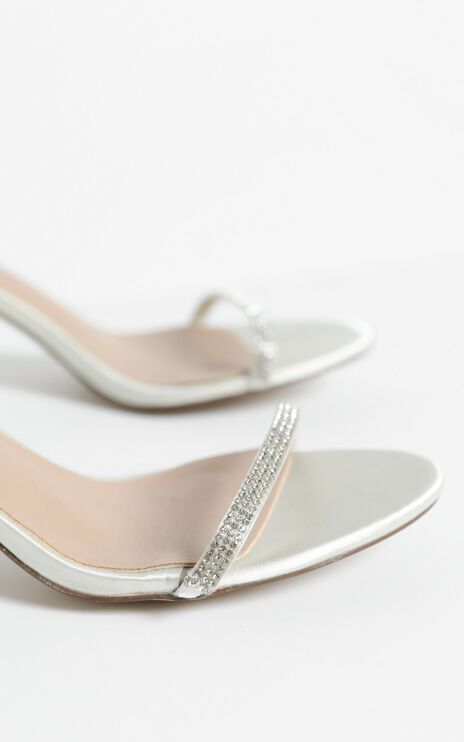 Therapy - Glimmer Heels in Champagne Satin