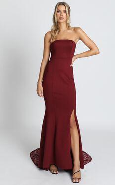 Always Will Love You Dress In Wine