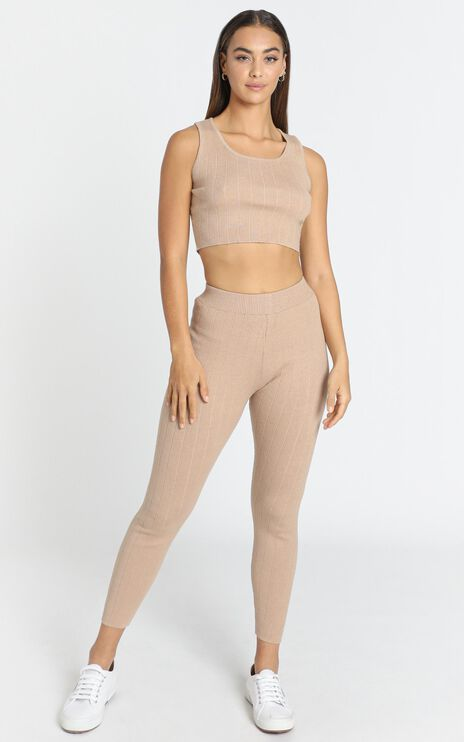 Nova Knitted Leggings in Cocoa