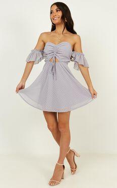 Take Flight Dress In Dove Grey