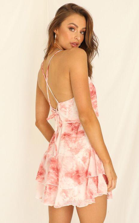 Love Fuel Dress In Blush Tie Dye