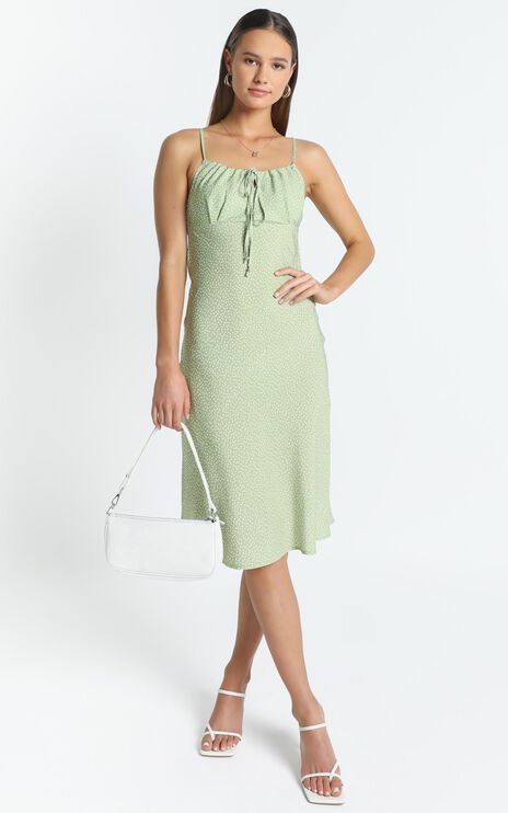 Orson Dress in Green Floral