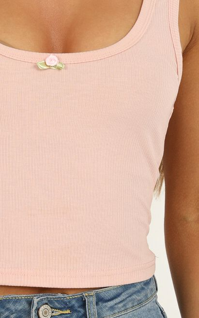 Hang Up On Me Top in blush - 20 (XXXXL), Blush, hi-res image number null