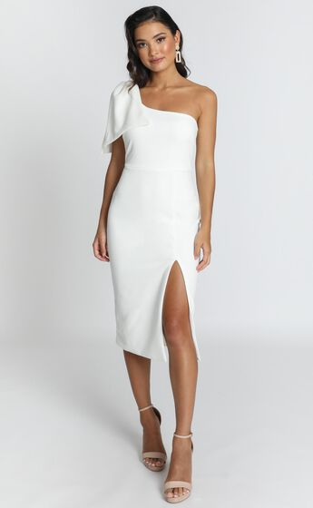 I Got A Feeling Dress in White