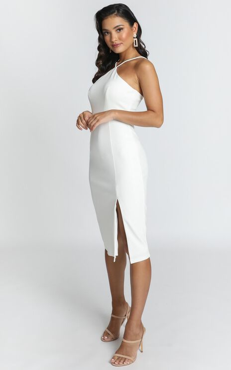 Missed The Point Dress In White