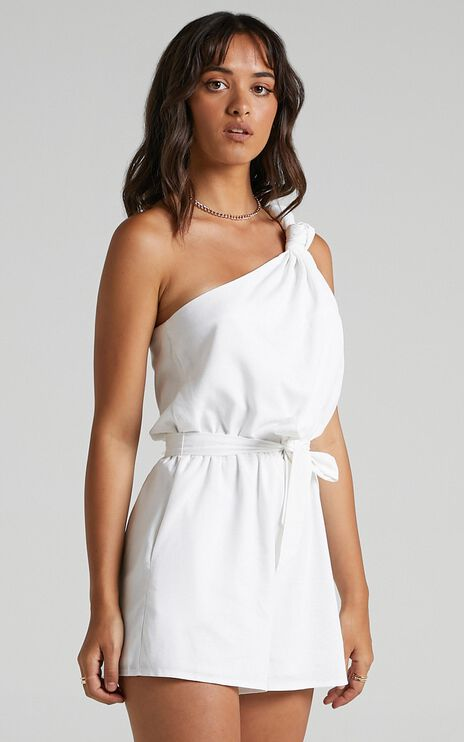 Armelle Playsuit in White