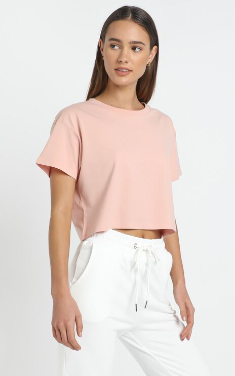 AS Colour - Crop Tee in Pale Pink