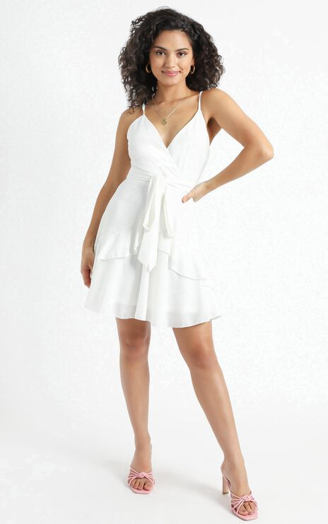 Feels Like Love Dress in White