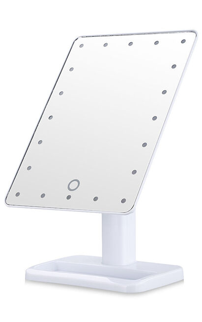 Portable LED Makeup mirror in white, , hi-res image number null