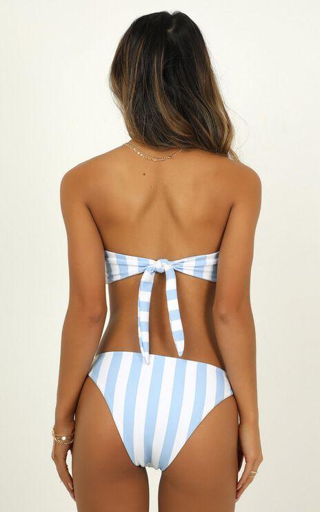 Lilah Bikini Bottoms In Blue Stripe