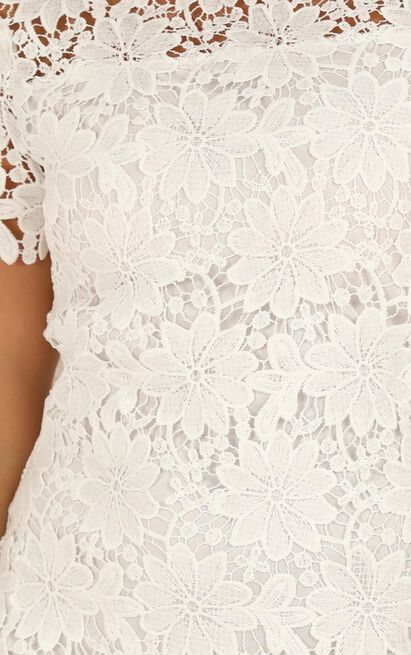 Returning Home dress in white lace - 12 (L), White, hi-res image number null