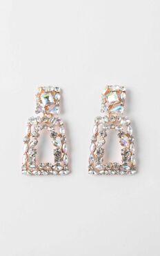 Take Heart Drop Earrings in Silver