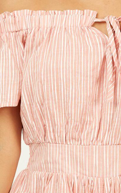 Through To You Playsuit in blush stripe - 18 (XXXL), Blush, hi-res image number null