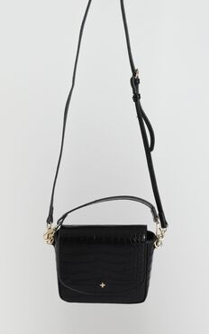 Peta and Jain - Camryn Crossbody Bag In Black Croc