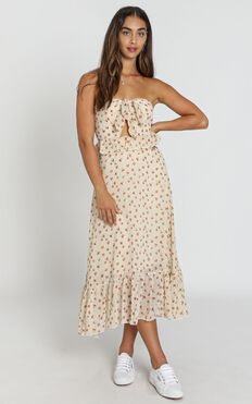 Zana Dress in cream floral