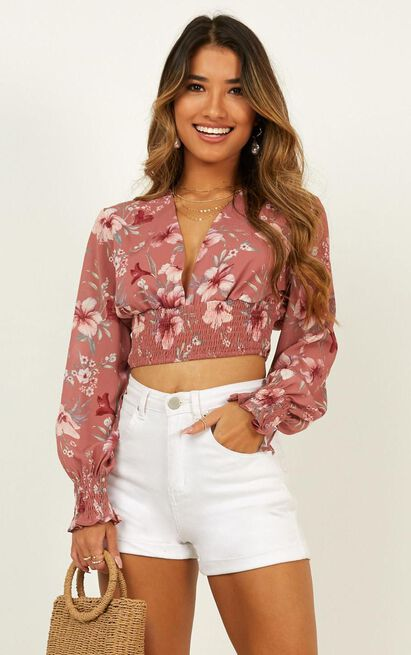 If he loves me top in rose floral - 20 (XXXXL), Blush, hi-res image number null