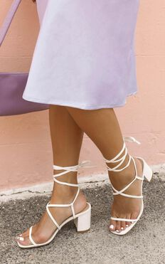 Billini - Yolanda Heels In White Linen
