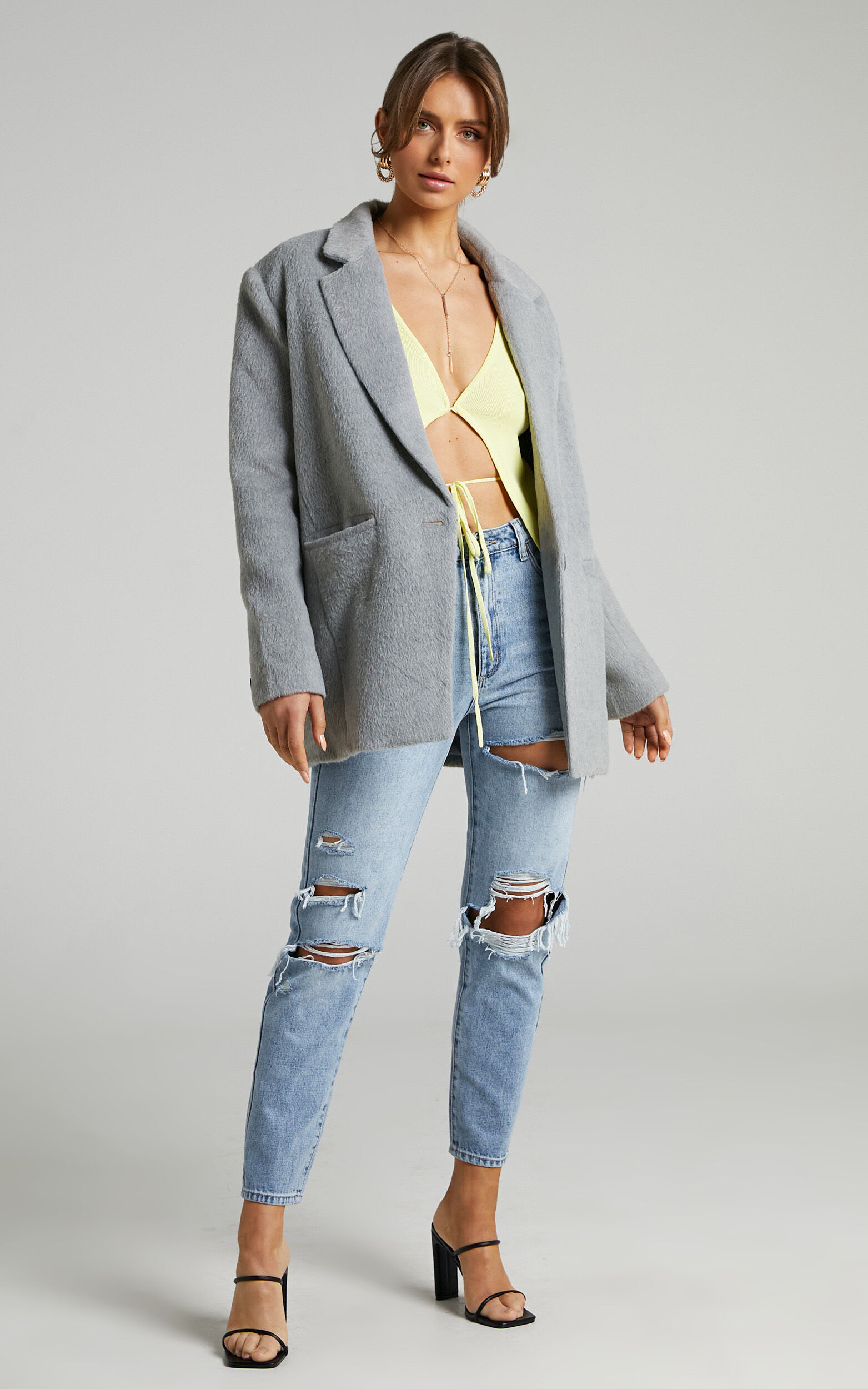 Lioness - Hailey Blazer in Grey - L, GRY1, super-hi-res image number null