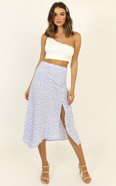 Cleanse Me Skirt In Lilac Floral