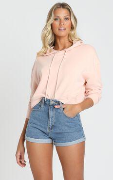 AS Colour - Crop Hood in Pale Pink