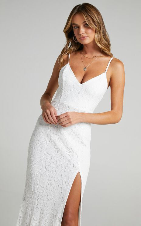 Always Extra Dress In White Lace