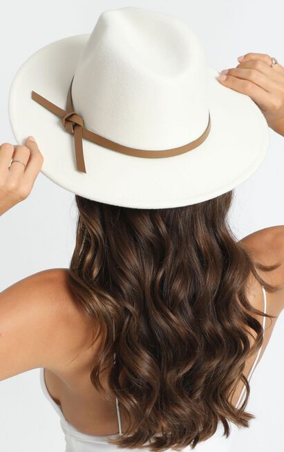 Milly Felt Hat In White, , hi-res image number null