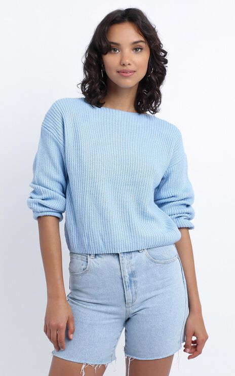 Eavan Knit Jumper in Pastel Blue