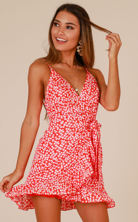 Lose Myself Dress In Red Print