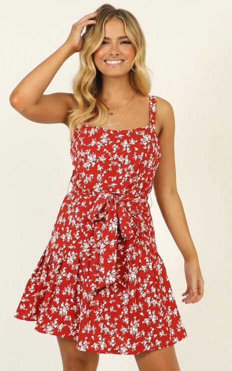 Biggest Comeback Dress In Red Floral