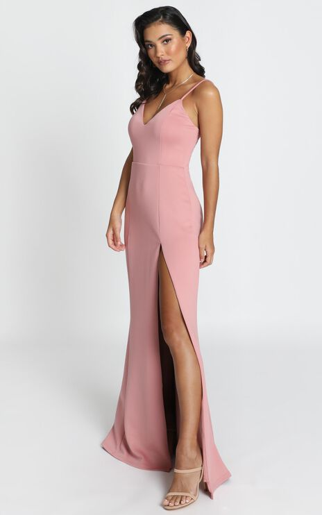 Dare To Dream Maxi Dress In Dusty Rose