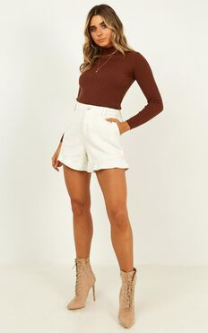 All That You Are Shorts In Cream Cord