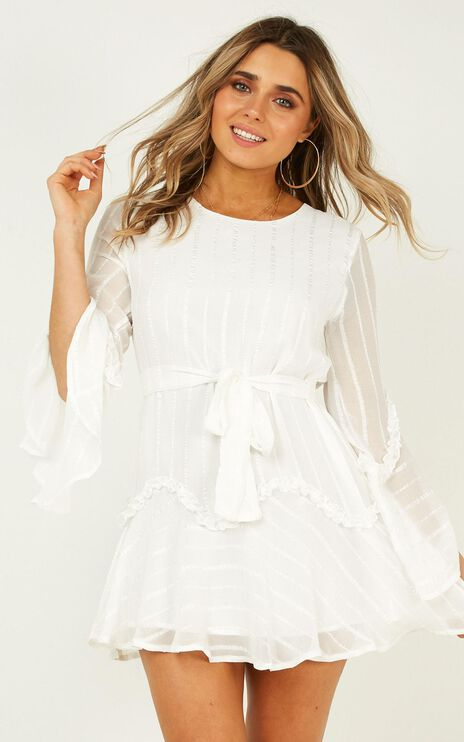 Slow Me Down Dress In White