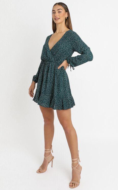 Keep It Smart Dress In Emerald Spot