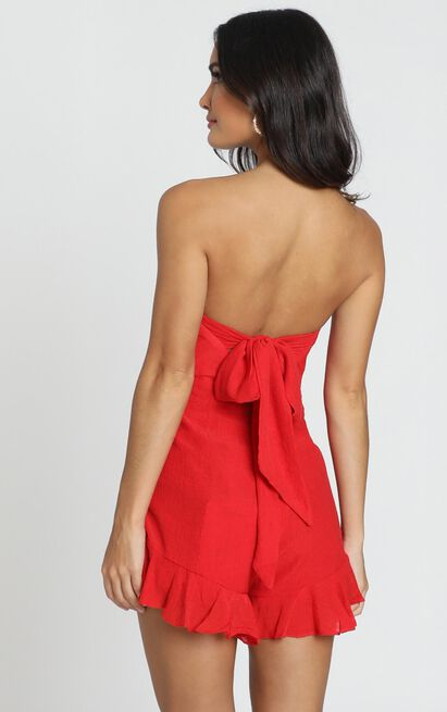 Think Pretty Playsuit in red- 6 (XS), Red, hi-res image number null