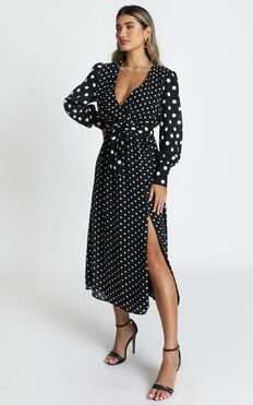 Natural Talent Dress In Black Spot