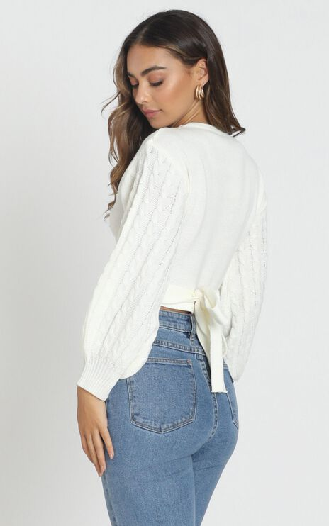Wrapped In Love Jumper in Cream