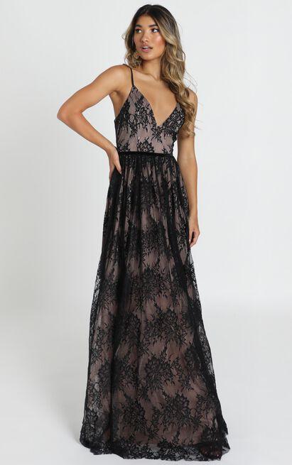 Emilia maxi dress in black Lace - 12 (L), Black, hi-res image number null
